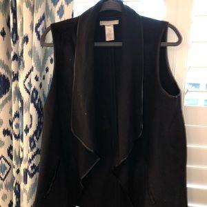 Talbots Black Vest